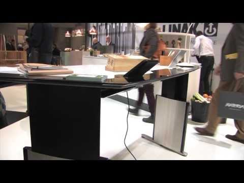 Wireless Recharging Built into DuPont Corian Solid Surface