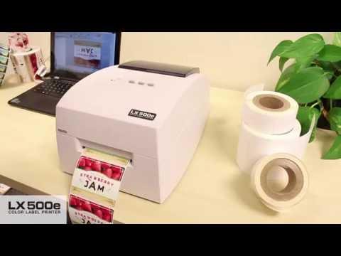 Primera LX500e kompakter Farb-Etikettendrucker mit hoher Druckqualität und hoher Geschwindigkeit bei geringem Druckaufkommen