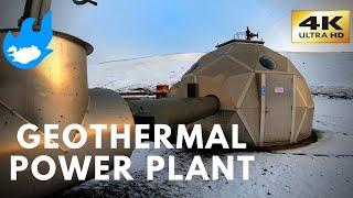 Iceland Walking Tour - Geothermal power station [4K]