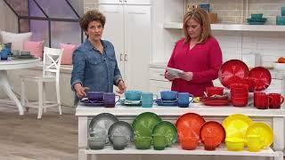 Cooks Essentials Gradient 16-Piece Dinnerware Set On QVC