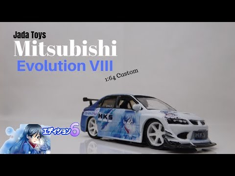 Mitsubishi Lancer Evolution VIII 1:64 Jada toys custom