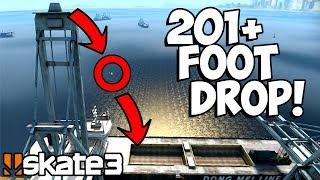 HUGE Crane Drop & Top To Bottom Bowl MegaPark Gap! | Epic Challenges Skate 3