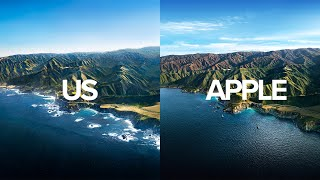 We Recreated Apples MacOS Big Sur Wallpaper With A Helicopter!