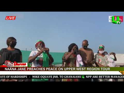 Naana Jane preaches peace on Upper West Region tour