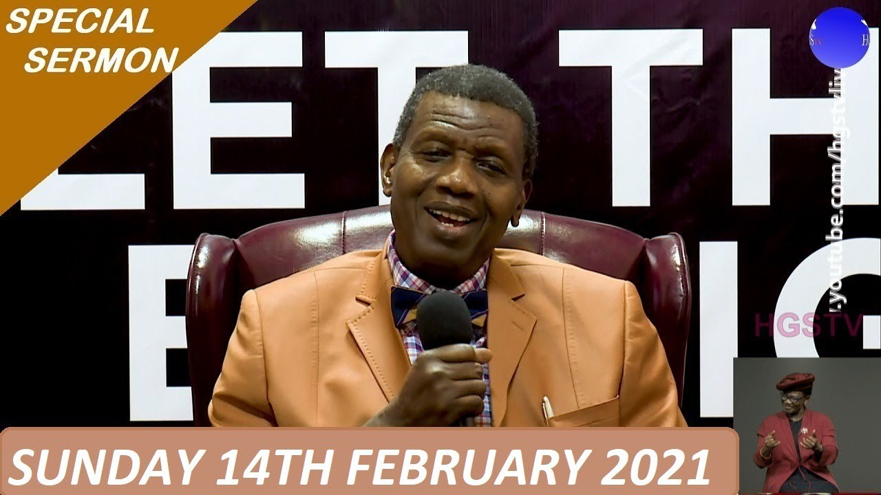 RCCG Sunday Service for 14th February 2021 with Pastor E. A. Adeboye