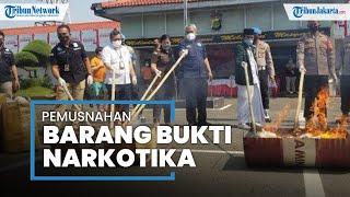 65 Kilogram Ganja Termasuk Narkoba Milik Si Pengendap Tabung Oksigen di Tangerang Dibakar