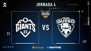 Vodafone Giants VS Team Queso | Jornada 4 | Temporada 2018-2019