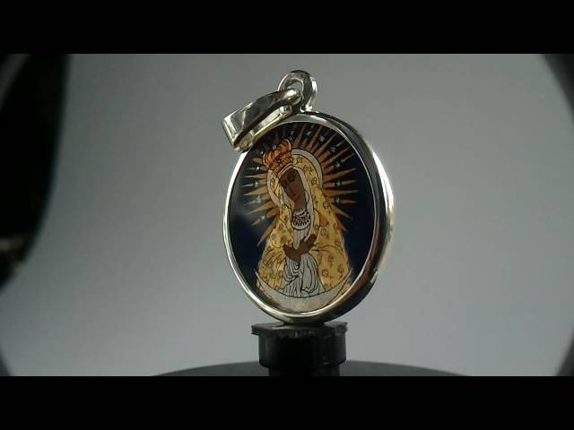 Medalik-eu-sygnowany-unikat-mb-ostrobramska-anioł-oprawa