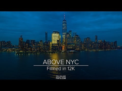 12K Aerial View of NYC