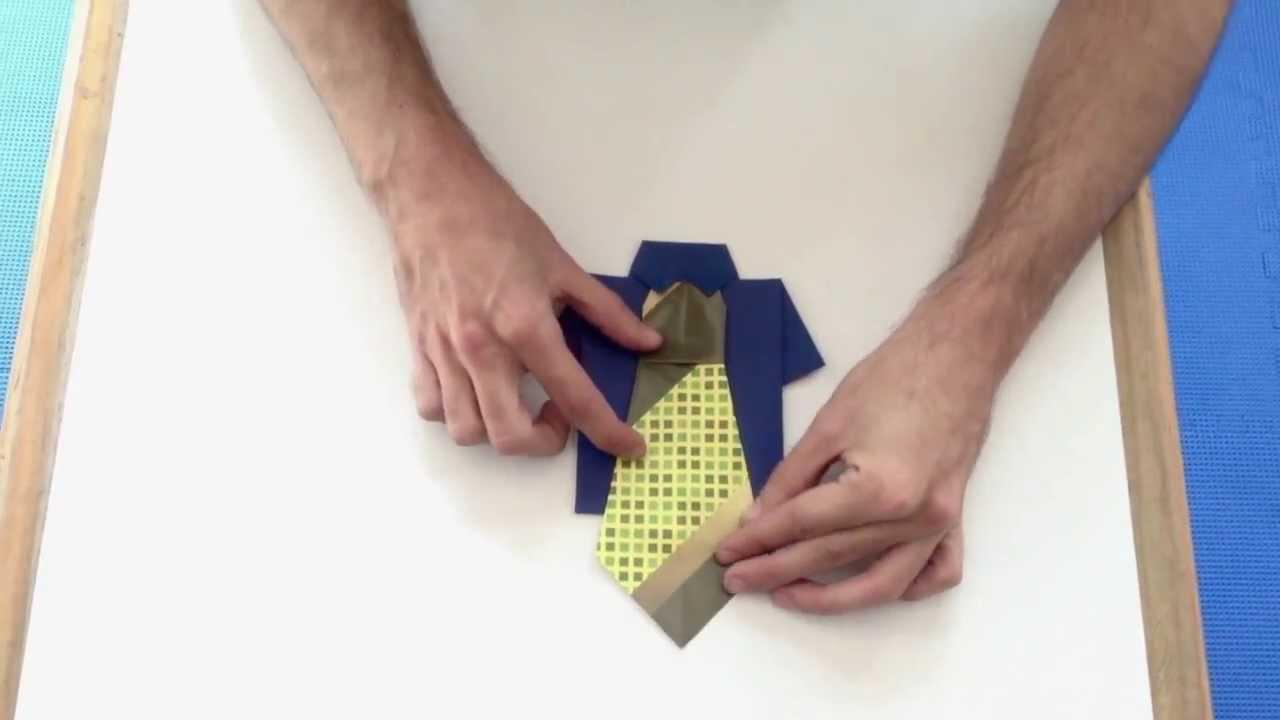 Origami: Camisa para Papá