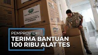 Bantuan 100 Ribu Alat Rapid Test hingga 300 APD dari Kadin Diserahkan ke Pemprov DKI Jakarta