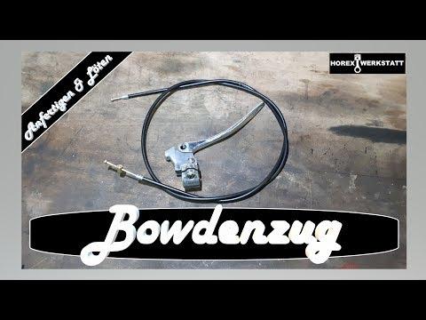 Bowdenzug selber anfertigen und löten | Seilzüge bauen | Kupplungszug Horex Regina 350