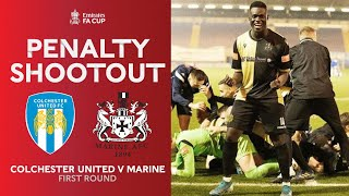 Full Penalty Shootout | Colchester United vs Marine | Emirates FA Cup 20-21