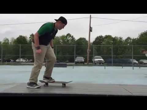 Skateboarding at Basil Skatepark in Greece Ny from May 2015.