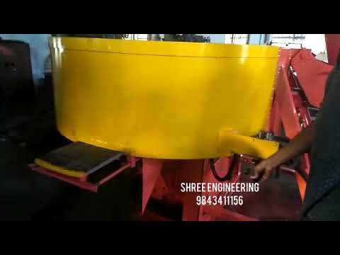 Concrete Pan Mixer Machine With Hydraulic Hopper