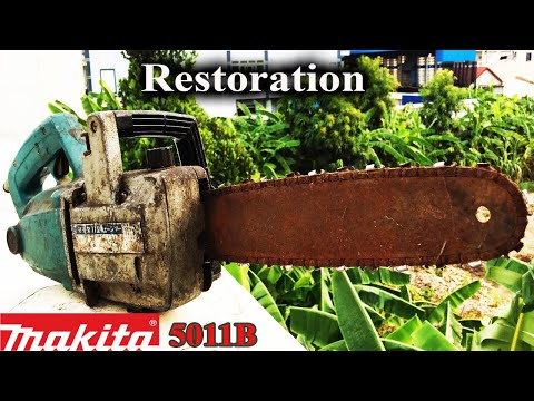 Restoration/ Old Model Electric chainsaw Rescue/ Makita 5011B of Japan