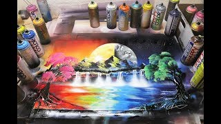 Gambar cover Day and Night - SPRAY PAINT ART by Skech