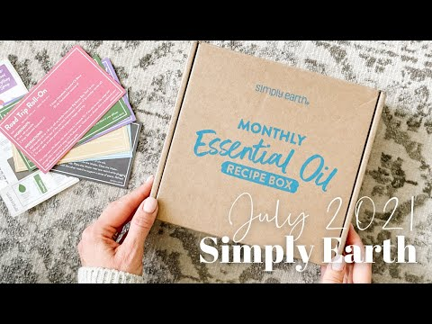 Simply Earth Unboxing July 2021