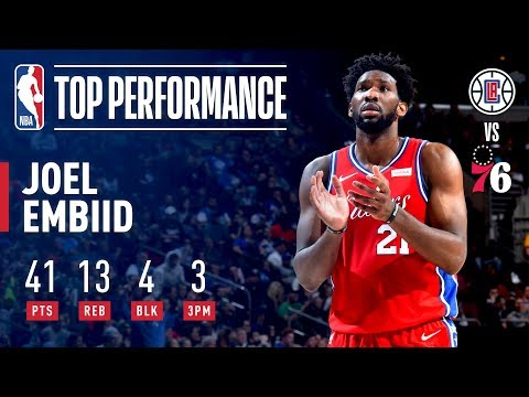 Joel Embiid Puts Together A Dominant Performance – 41 Pts 13 Rebs | November 1, 2018