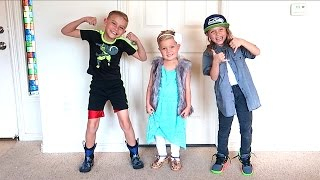 👔👗KIDS CLOTHES SWAP CHALLENGE! 👨🏼👩🏻👦🏽👧🏽👦🏽👶🏼 Siblings Swap Clothes!