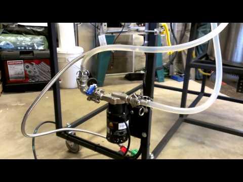 Chugger pump on my new half barrel brew system