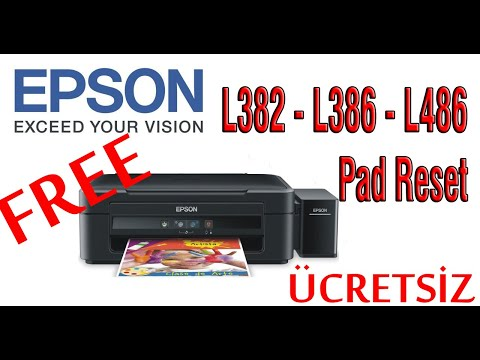 How to Reset Epson L382,L386,L486 Printer Service Required