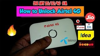 [Hindi-हिंदी ] How to Unlocked Airtel WiFi 4G Hotspot Huawei E5573s-606 | All Sim 2G/3G/4G  🔥🔥🔥