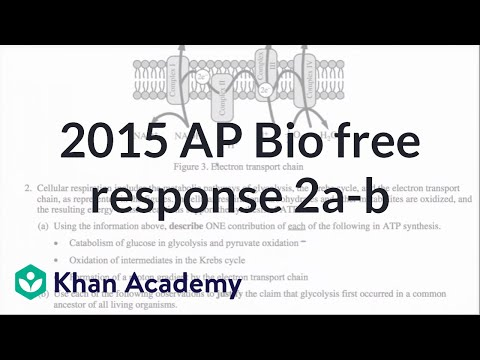 2015 AP Biology free response, 2a-b (video) Khan Academy