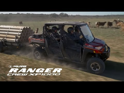 2019 Polaris Ranger Crew XP 1000 EPS Premium in Lewiston, Maine - Video 1