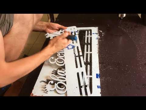 Фрезеровка медальницы из фольгированного пластика. Чпу для изготовления рамок, букв, топперов
