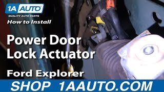 Replace Door Lock Actuator
