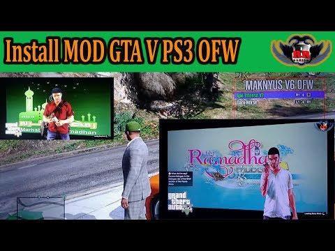 Cara Install MOD Game GTA V di PS3 OFW/HFW Maknyus V6 100% Work