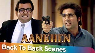 Back to Back Comedy Scenes | Superhit Movie Aankhen | Akshay Kumar - Amitabh Bachchan - Paresh Rawal