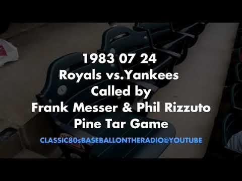 1983 07 24 Royals vs Yankees (Frank Messer & Phil Rizzuto) - Pine Tar Game