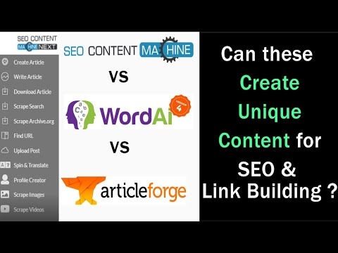 SEO Content Machine Review: (vs Wordai 4 vs Article Forge 2.6) | Urgent for Bloggers & Creators