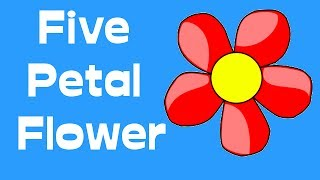 how to make a five petal flower