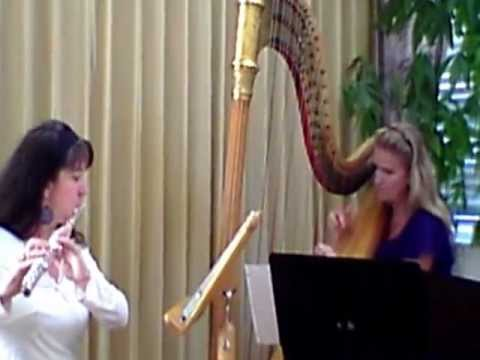 A video of tunes with flute and harp (Wyndstrum Duo). These songs are particularly popular for concerts and weddings!