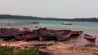 Aerial Bay Jetty in Diglipur, Andamans