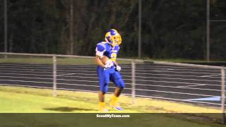 preview picture of video 'Charles City's Justin Brown earns a touchdown with a nice run against Windsor'