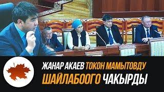 Жанар Акаев Токон Мамытовду шайлабоого чакырды