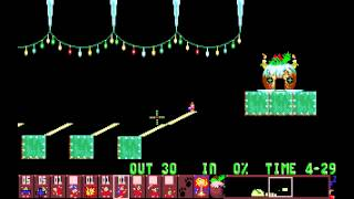 preview picture of video 'Holiday Lemmings 1993 - Blitz Level 11: The Search for Lem (1993) [MS-DOS]'