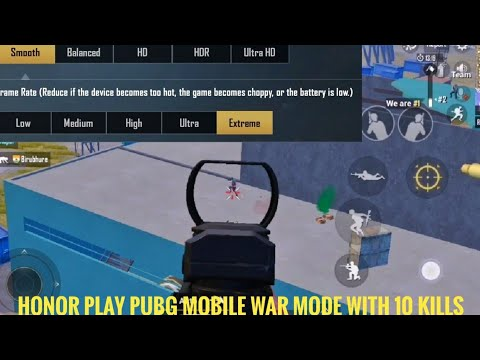PUBG Mobile War Mode New Gameplay in Honor Play With 10 Kills🔥Smooth Graphics and Extrem Frame Rate
