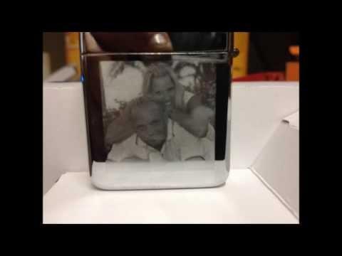 Benzinfeuerzeug gravieren  Fotogravur auf Benzinfeuerzeug, Foto auf Zippo Gravieren.
