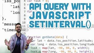 10.7: API Query with JavaScript setInterval() - p5.js Tutorial