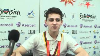 Interview Donny Montell in Baku Love is blind    Lithuania Eurovision 2012