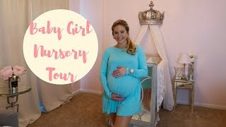 BABY GIRL NURSERY TOUR! | Princess Nursery | Posh Nursery | Pink, Gray & White Nursery