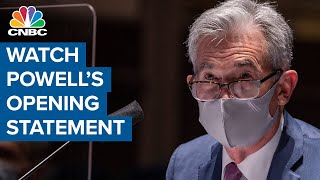 Watch Federal Reserve chairman Jerome Powell's opening statement