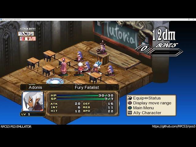 PS3 Emulator RPCS3's DX12 Version Plays Disgaea 3 at Full