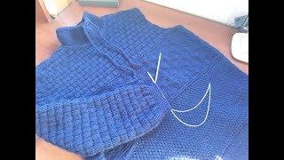 Пуловер (свитер) спицами для мужчин. Часть 6. Рукава. Имитация вшивного рукава.