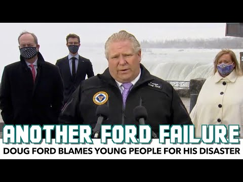 Doug Ford Blames Young People For His Disaster